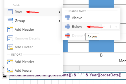 Add Detail Row to Table