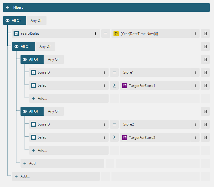Working with Enhanced Filter Editors in the ActiveReports End-User Report Designer