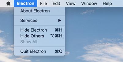 Electron dot NET 응용 프로그램