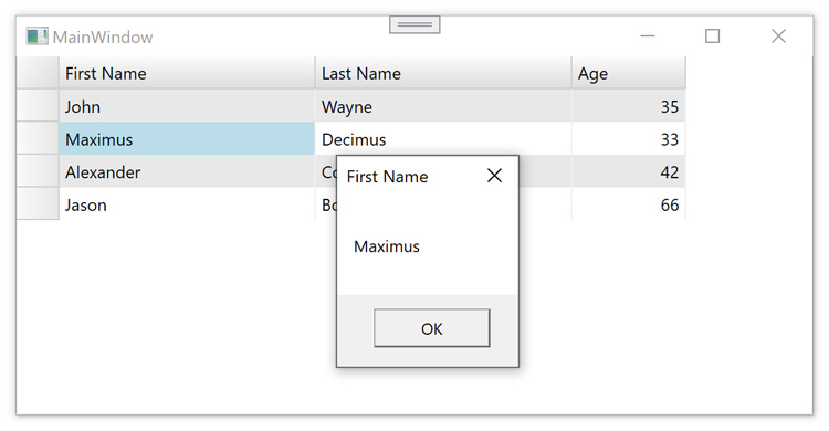 How to Create CommandBinding in a WPF Datagrid