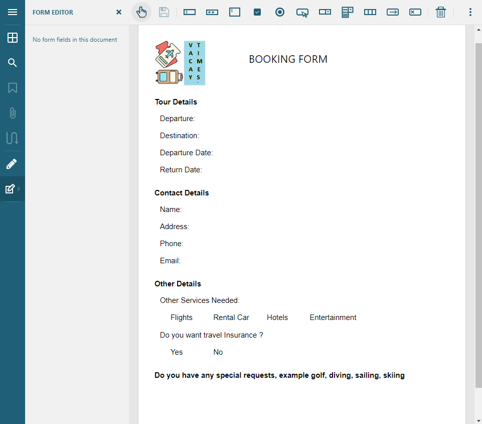 Using a PDF Form Designer for Web