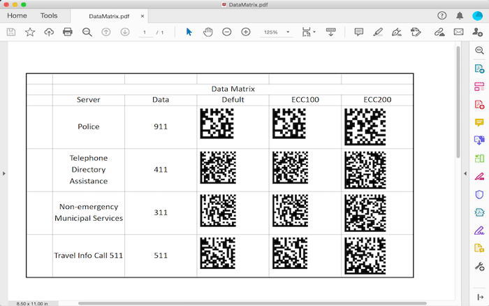 Image describing use of Barcodes in GcExcel .NET and Java Excel Library V4