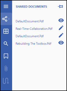 New Shared Documents panel in GcPdfViewer by GrapeCity
