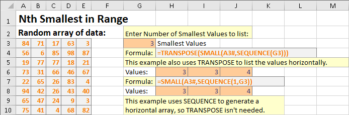 SEQUENCE function example 5