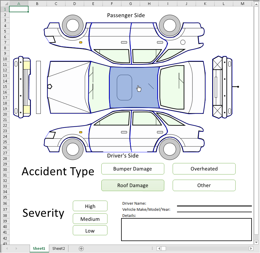 Figure 4  Car Insurance Claim created using shapes