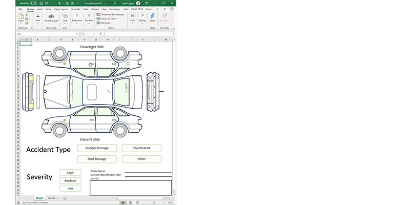 Building an Insurance App using the WinForms Enhanced Shapes Engine