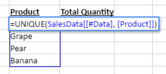 Data Analysis and Extraction with Dynamic Arrays in JavaScript Spreadsheet Component