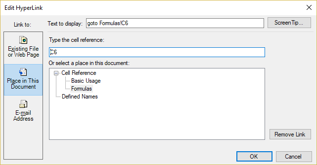 Spread .NET v14의 향상된 하이퍼링크 지원