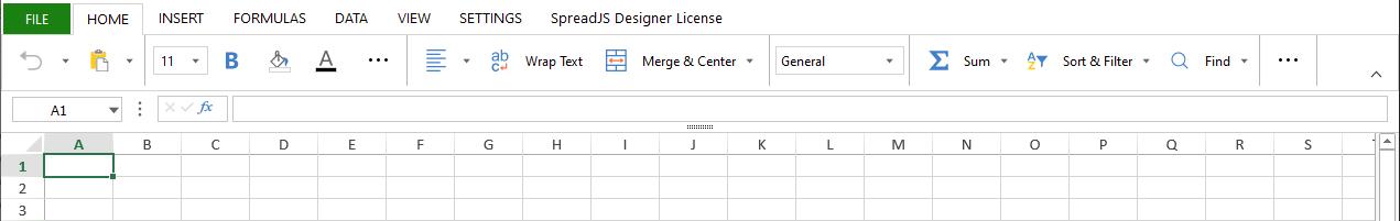single toolbar