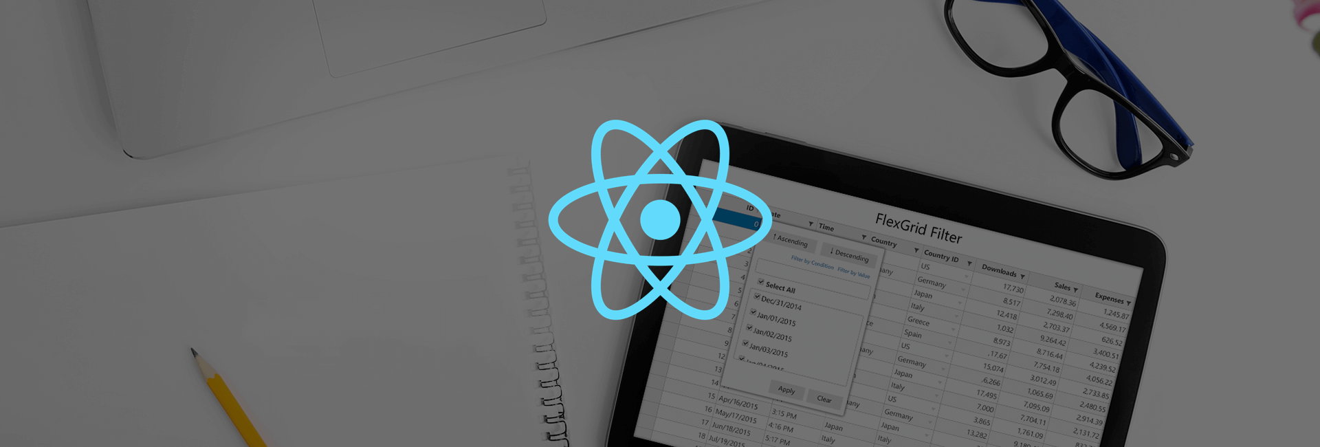 React Cell Templates for the FlexGrid