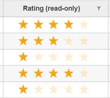 FlexGrid Star Rating Column