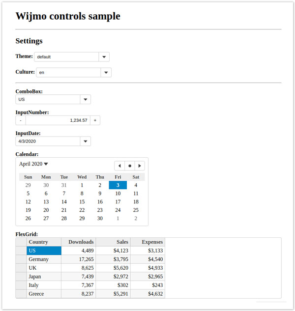 Theming and Localization of Wijmo Controls in Vue Applications