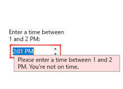 .NET Input Panel Validation