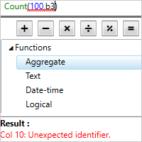 .NET Expression Editor Catch formula errors with full error reporting