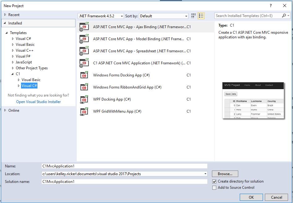 Project Templates for WPF