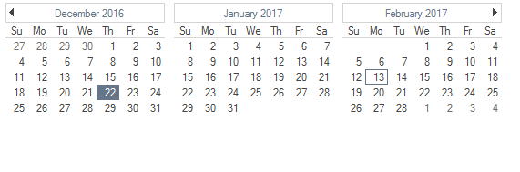CalendarView for WinForms