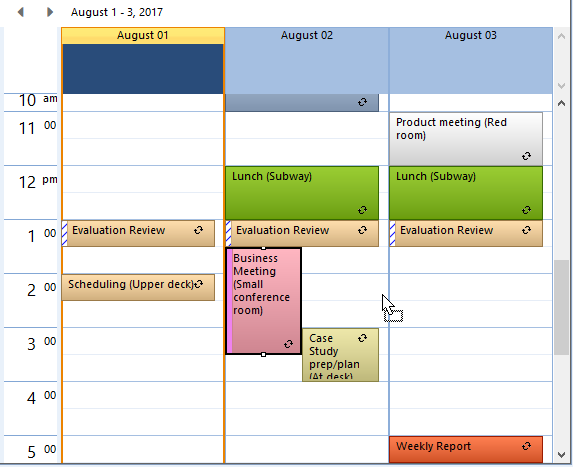 WinForms Scheduler