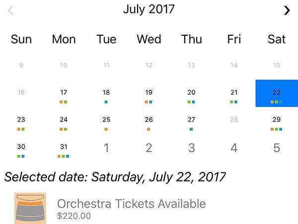 Calendar for Xamarin | ComponentOne