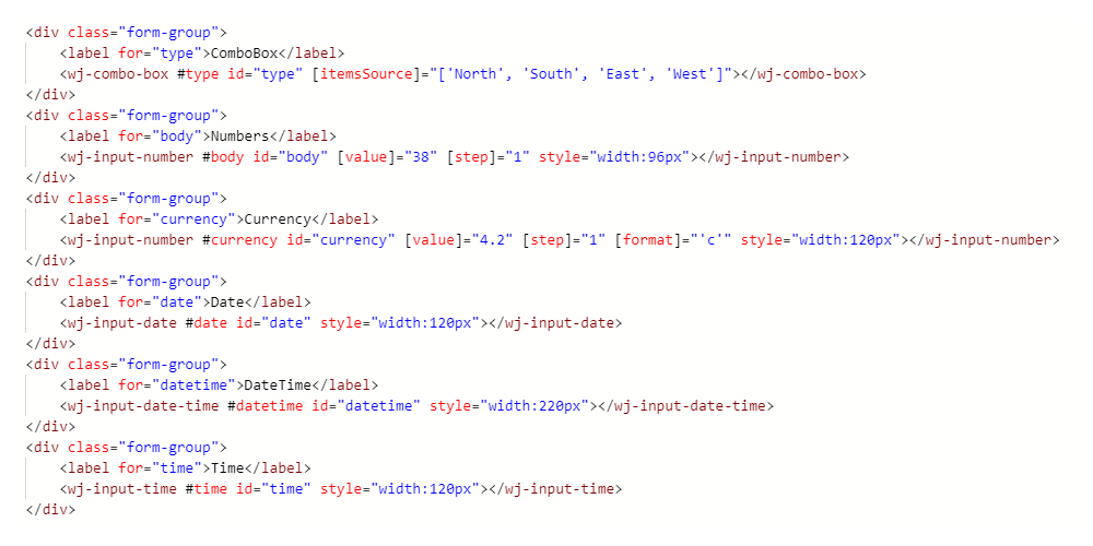 Angular UI Components   Wijmo JavaScript Components   Wijmo