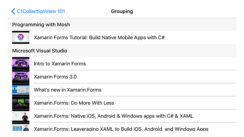 Xamarin CollectionView