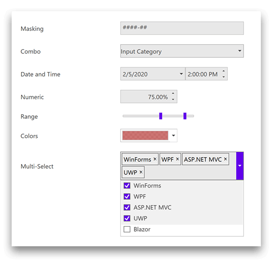 Powerful Input Controls for .NET