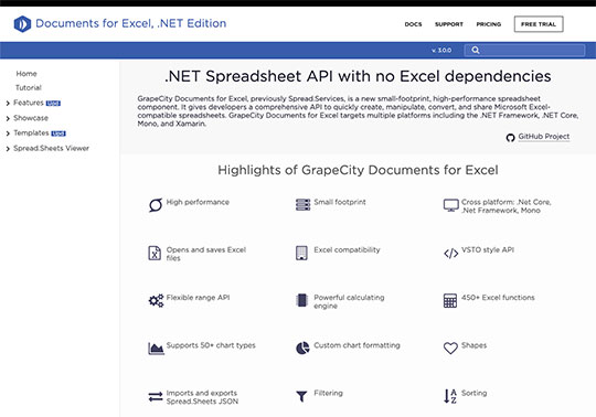 .NET 5 Document APIs Documents for Excel .NET Editions Highlights .XLSX