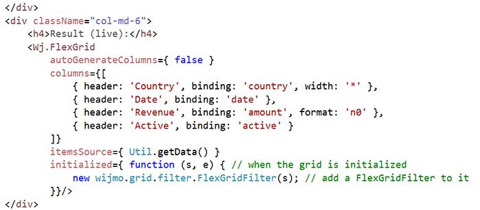 React Controls | JavaScript Components | Wijmo