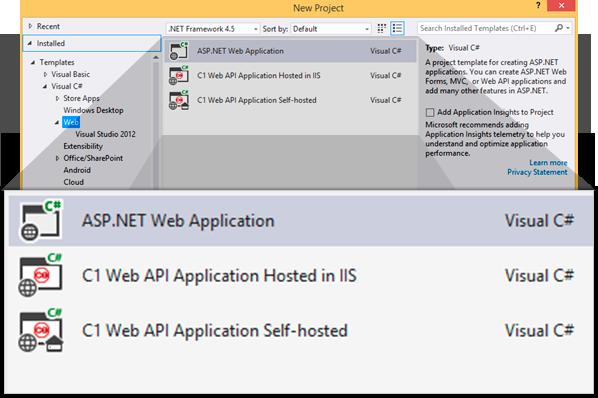 Visual Studio 프로젝트 템플릿