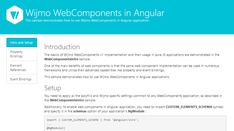 Angular Web Components
